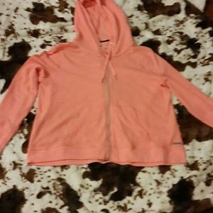 Active wear top by Calvin Klein size Large hooded
